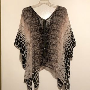 Great Sheer Poncho with Great Details.
